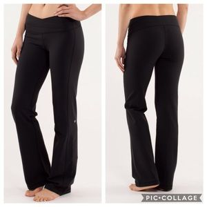 Lululemon Astro Pant Solid Black Size 8 Tall